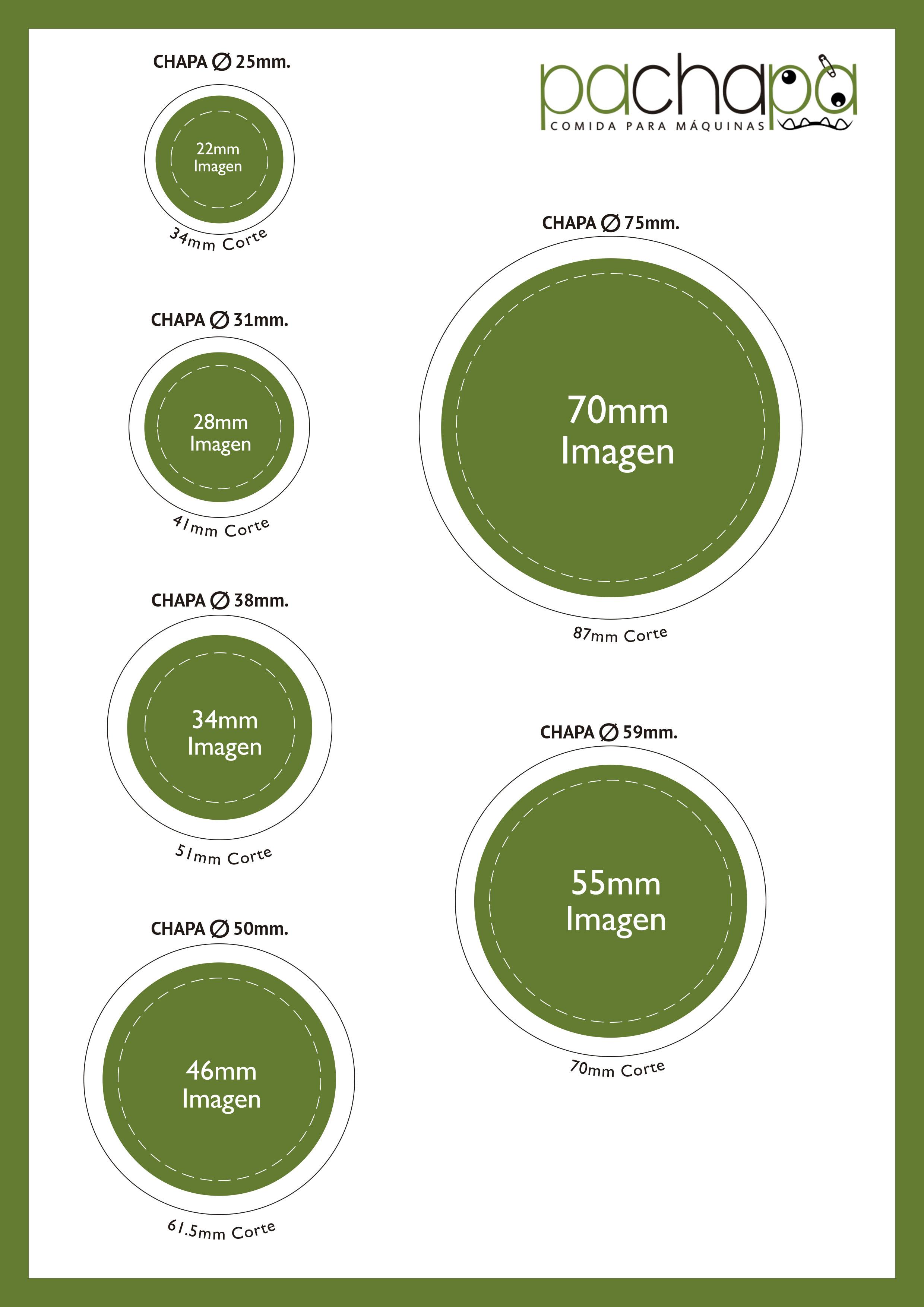 Plantillas para hacer chapas personalizadas de todos los tamaños